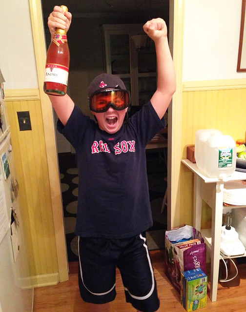Zan celebrates the Red Sox' 2013 World Series win