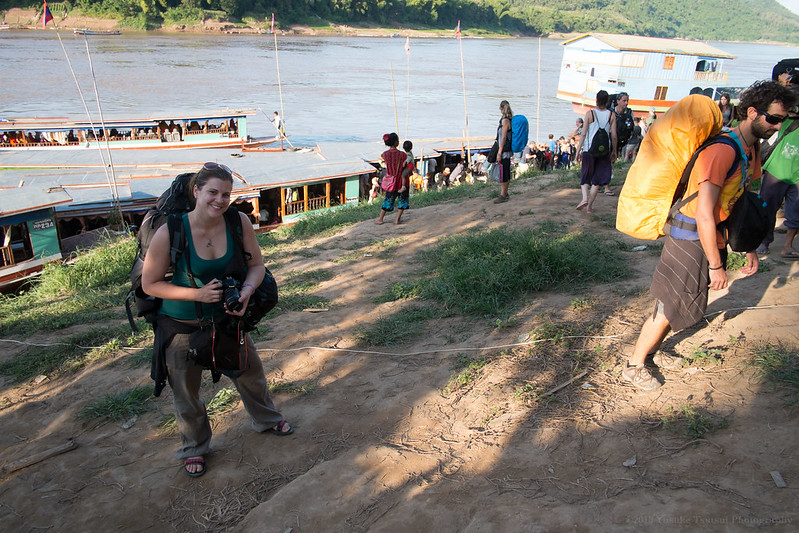 boat on the Mekong