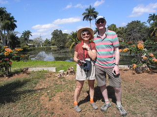 Anne and Mick at the Crocodile pool