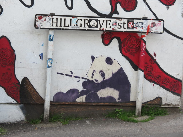 Panda stencil, Hillgrove Street