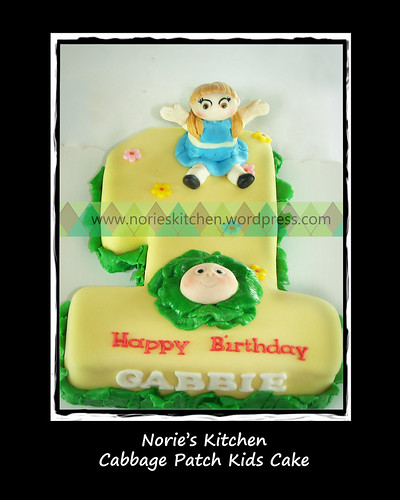 Norie's Kitchen - Cabbage Patch Numeral Cake by Norie's Kitchen