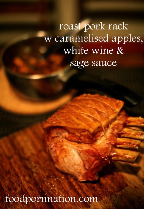roast pork w sauce