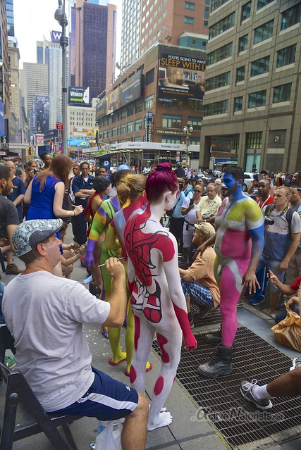 naturist 0000 body paint art, Times Square, New York, NY, USA