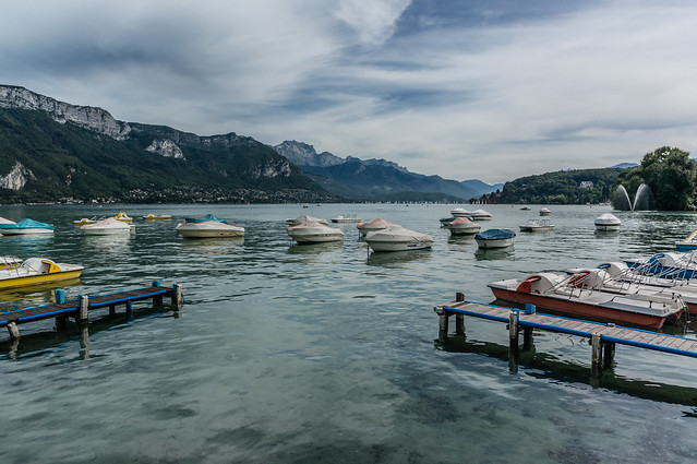 Boats, Lake Annecy, France