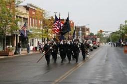 Parade heading south