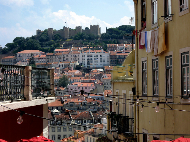 Lisbon, Portugal Bairro Alto neighborhood.