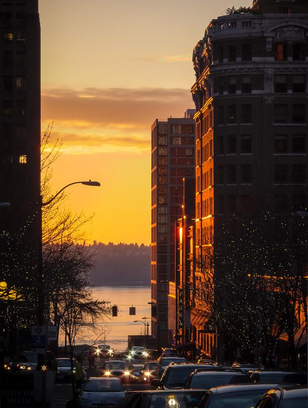 Sunset, University Street