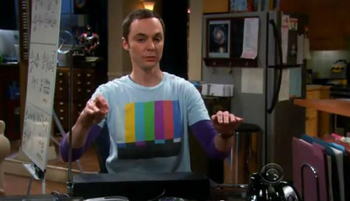 Sheldon Cooper with Theremin