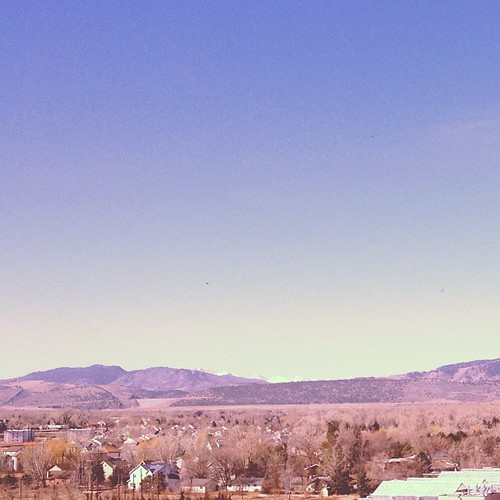 View of the front range from the presidential suite Hilton by @MySoDotCom