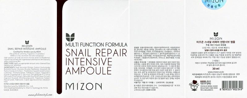 MIZON Snail Repair Ingredients