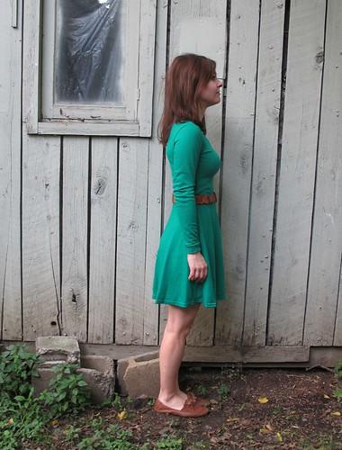 Emerald Wool Jersey Lady Skater