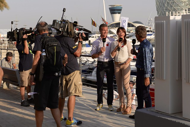 BBC F1 Team - Suzi Perry, David Coulthard and Eddie Jordan