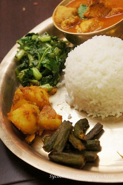 10.nepal restaurant- Khukurako Masu Ra Bhat (1)