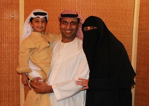 Dressed in Traditional Emirati Attire in Dubai