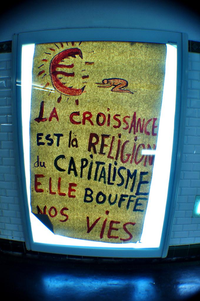 La Croissance est la Religion du Capitalisme Elle Bouffe nos Vies