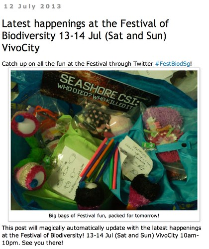 wild shores of singapore: Latest happenings at the Festival of Biodiversity 13-14 Jul (Sat and Sun) VivoCity