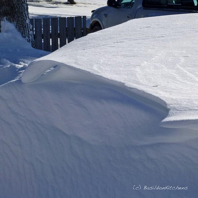 27/1/2014 - sharp {the sharp edges of the many snow drifts} #photoaday #sharp #snow #drift #winter #weather #princeedwardcounty