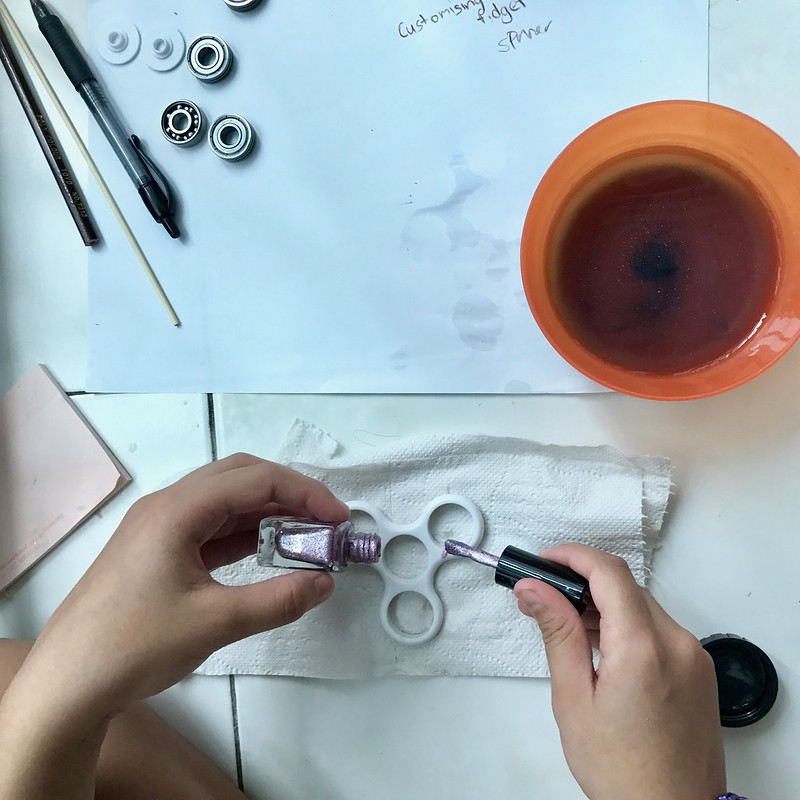 Making of customized Fidget Spinner