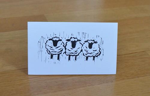 Linocut Sheep