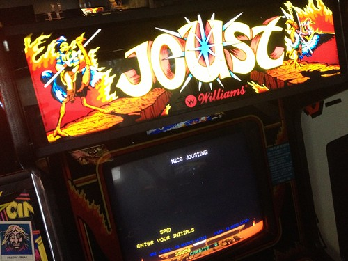 Warming up with a little Joust before hitting Backspace
