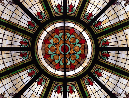 Stained glass, Logansport City Hall