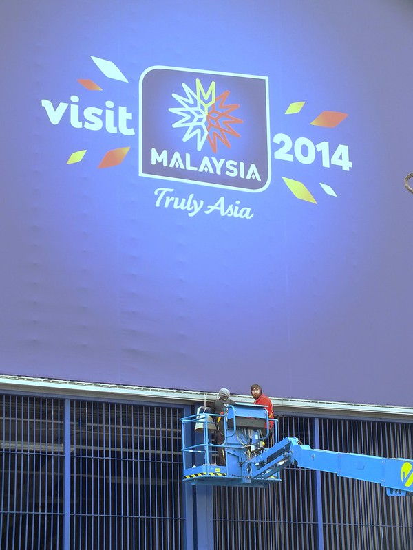 Visit Malaysia signs at Cardiff City Stadium
