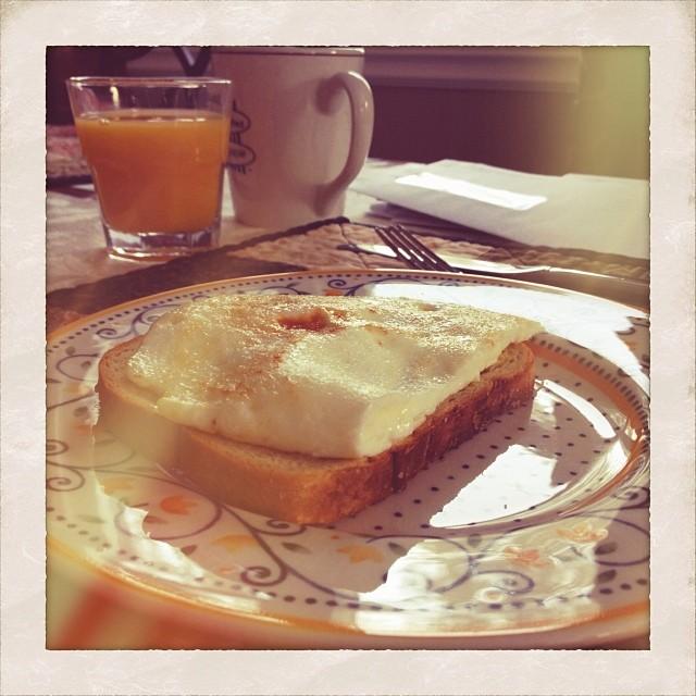 1/1/2014 Lunch - or rather brunch!  #fmsphotoaday #lunch #brunch #eggs #breakfast #coffee #orangejuice #sunshine