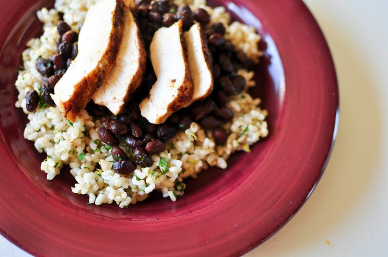 Cilantro Lime Rice and Seasoned Black Beans with Chicken 2