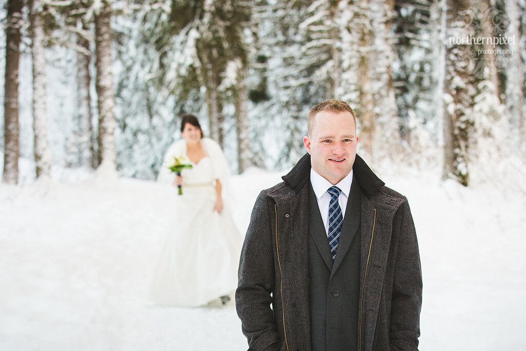 Winter First Look Session Prince George British Columbia