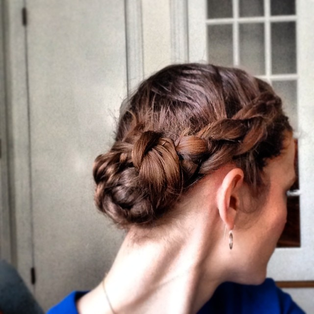 Dutch braid, attempt no. 1. #braidselfie