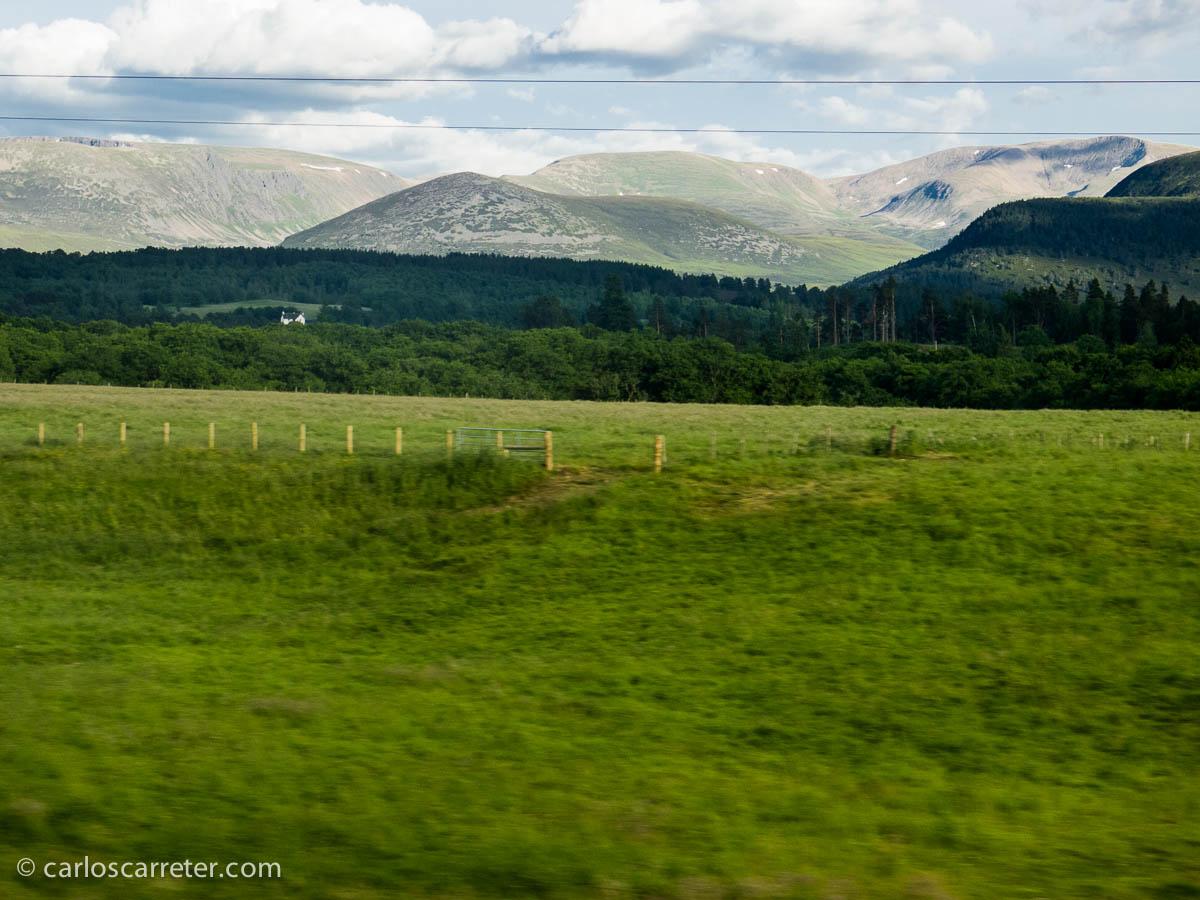 Cairngorms desde el tren