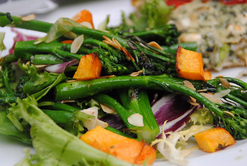 Tenderstem, green beands, almonds, butternut squash