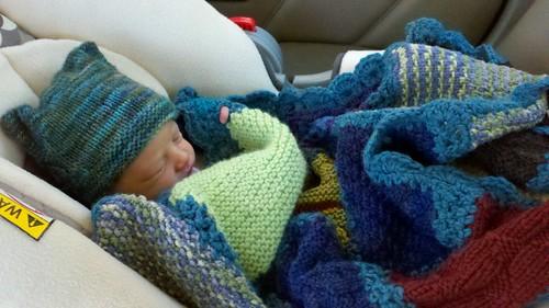 knit camp blanket