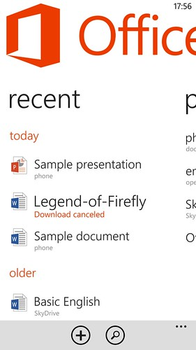 โปรแกรม Microsoft Office บน Windows Phone 8