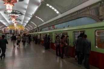Ik ging 'per ongeluk' in een treinstel met gewone burgers zitten. Dus we vertrokken wat later dan gepland.