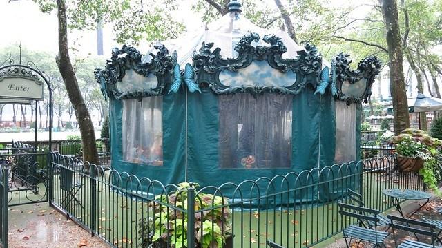 Bryant Park的遮雨棚