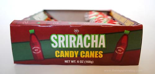 J&D's Foods Sriracha Candy Canes Side Box
