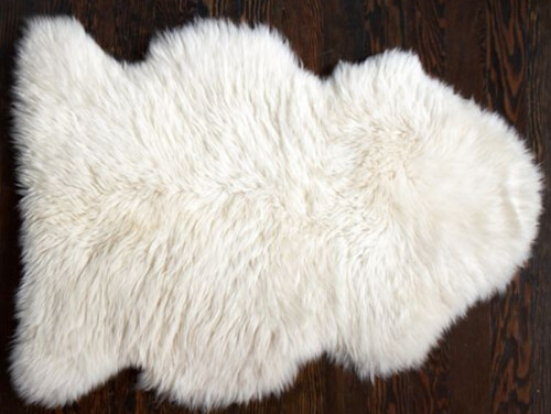 Pottery Barn Sheepskin Rug - Copy