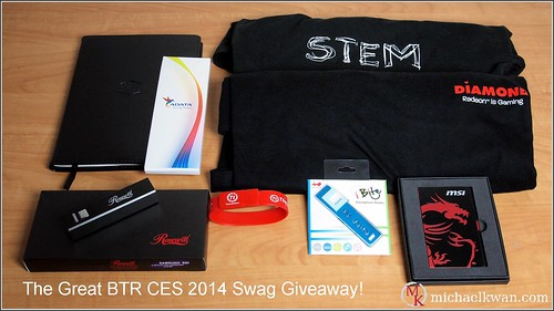 BTR CES 2014 Swag Giveaway