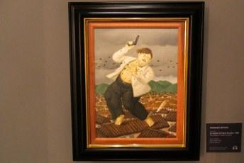 En een schilderij waarop Pablo Escobar's laatste seconden in beeld zijn gebracht.