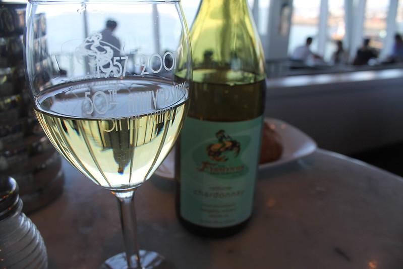 Chardonnay en restaurante de Fisherman's Wharf
