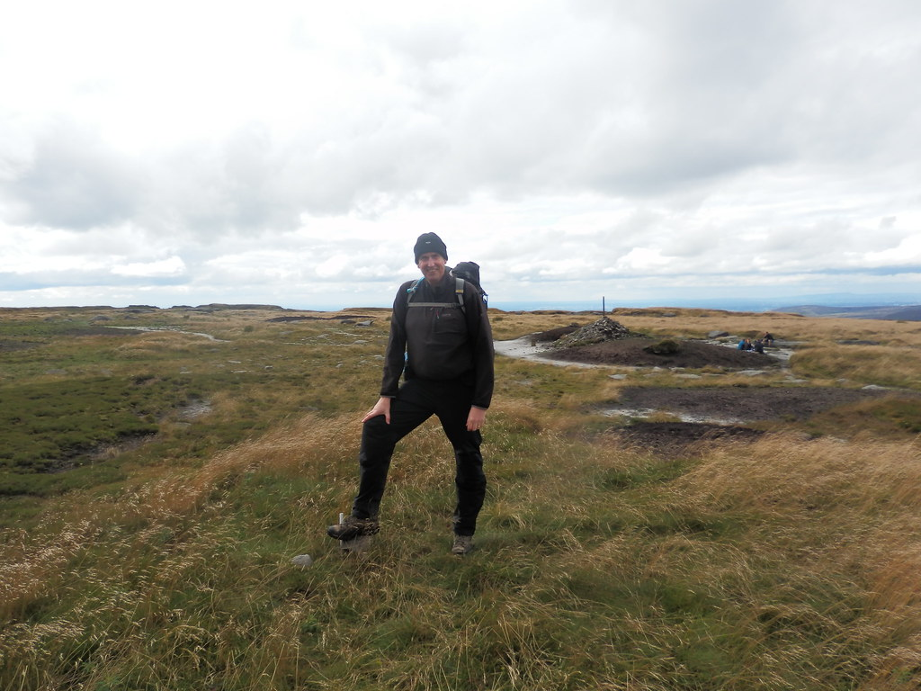 At the summit of Bleaklow Head