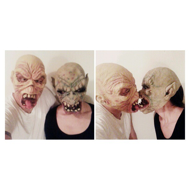 Mr. and Mrs. #ugly #getonmylevel #halloween #halloween2013 #mask