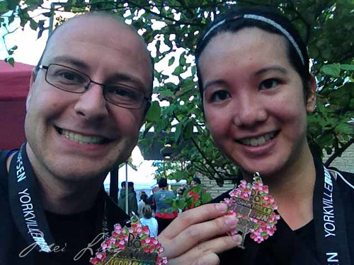 Dan and I with our medals after the race.