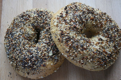 Bagels by the james kitchen