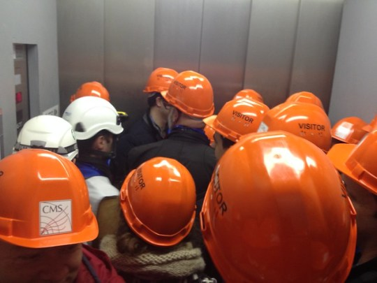 Packed elevator