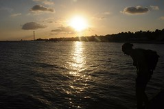 nice sunset from Historic Higgs beach, Key west