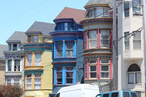 Colored buildings