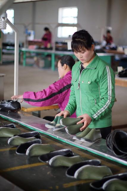 Rason Shoe Factory North Korea
