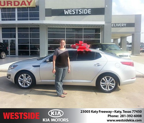 Thank you to Jeniffer Walker on the 2013 new car  from Wilfredo Suliveras and everyone at Westside Kia! by Westside KIA